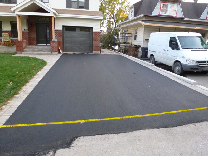 Allee de garage en pave voir le chantier pav trapzoidale formats with allee - Pave allee de garage ...